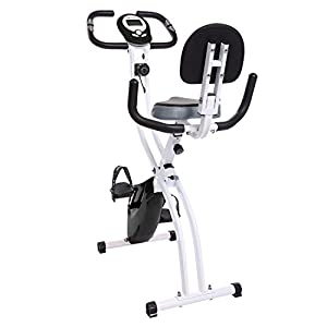 Ancheer Folding Recumbent Exercise Bike, Indoor Cycling Bike