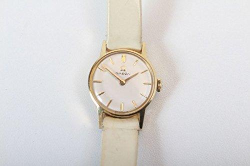 Uhr Armbanduhr Damenuhr Omega echt Gold 585 massiv vintage 1960er 60s watch