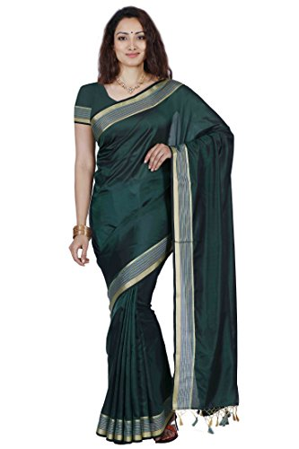 Mimosa By Kupinda Art Silk Saree Kanjivaram Stlye Color:Rama_Turquoise (3350-MLI-01-BL-GRN)  available at amazon for Rs.599