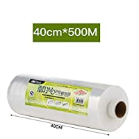 YXNN Self-adhesive Cling Film Wrap, PE Transparent Stretch Film, For Food Packaging, Freshness Protection, Cooking, Microwave And Freezer Safe (Size : 45cmx450m)