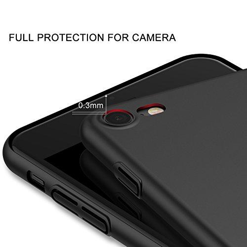 iPhone 7 Hülle, iPhone 8 Hülle, RANVOO Extra Dünn Hart Hülle Hard Ultra Slim Case Plastik Material Anti-Kratzer Anti-Fingerabdruck Leicht Schale Cover Handyhülle Voller Schutz für iPhone 7/8, Schwarz Schwarz