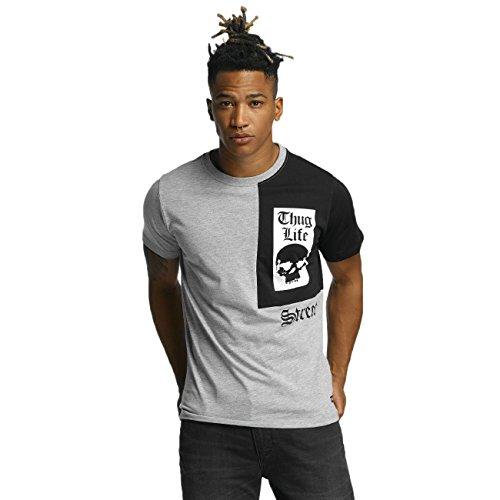 Thug Life Herren Oberteile / T-Shirt Qube Grau