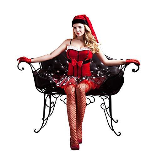 Claus Frauen Kostüm Mrs - HJG Sexy Santa Outfits für Frauen, Weihnachtskleid Mrs. Claus Kostüm