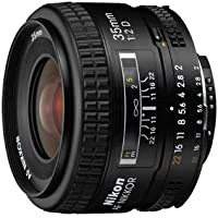Nikon AF-Nikkor 35mm F2 D - Objetivo con Montura para Nikon (Distancia Focal Fija 35mm, Apertura f/2)