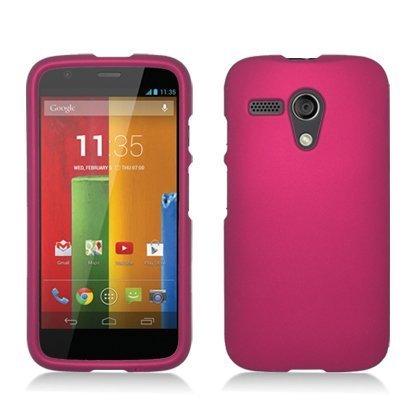For Motorola Moto G (CDMA) (Verizon) Rubberized Protector Cover Rose Pink