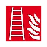 Aufkleber Feuerleiter Brandschutzzeichen Größe: 15,0 x 15,0cm Folie