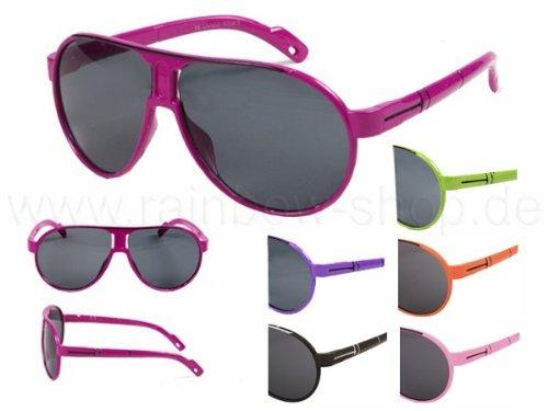 Viper Kinder Sonnenbrille Retro Wayfarer Nerd rosa*NEU*OVP*