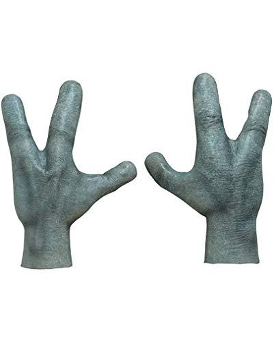 Horror-Shop Alien Latex Hände für Halloween