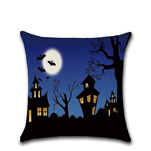 5 * 45 cm Halloween Themed Cartoons Haus, Mond Druckt Kissenbezug Kissen Fall Decken Kissen Schlafzimmer ()