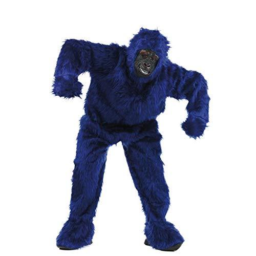 Limit Sport Kostüm Plüsch Gorilla für Erwachsene, Blau, Größe XL ()
