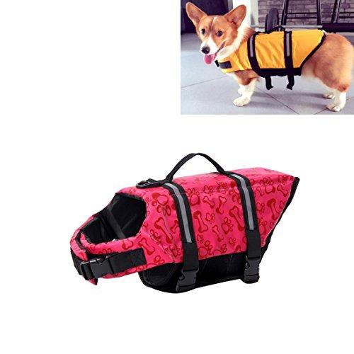 SRY- Haustierzubehör Pet Saver Hund Reflektierende Streifen Schwimmweste Jacke für Schwimmen Bootfahren Surfen, Größe: XL Nett und praktisch ( SKU : Hc6127b ) (Streifen Bootfahren)
