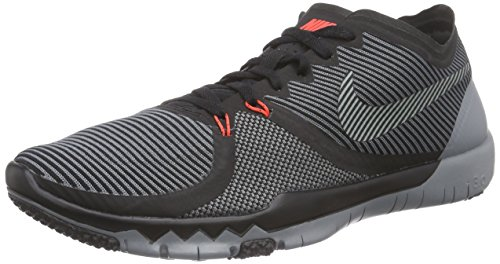 Nike  Free Trainer 3.0 V4, Chaussures de sport homme Noir - Schwarz (001 BLACK/COOL GREY)
