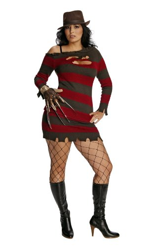 Rubie 's Offizielle Miss Freddy Krueger Kostüm Sexy Secret Wishes Damen Groß – Nightmare On Elm (Kostüme Krueger Freddy)