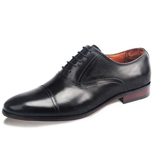 1e8d65ca44ab57 DESAI Scarpe Stringate Eleganti Oxford Uomo Marrone/Nero