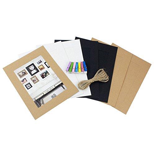 ative Home Wandschmuck Aufhängen DIY Papier Foto Rahmen mit 7Mini Wäscheklammern (3Farbe, 17,8cm) (Jetzt Zeigt Bilderrahmen)