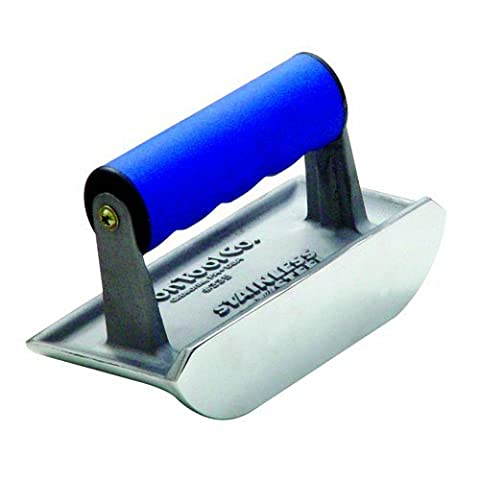 Bon 88-305 Cast Stainless Steel 6-Inch by 4-/12-Inch Concrete Bullet Groover, 3/4-Inch Bit Depth by 3/8-Inch Bit Width with Comfort Grip Handle by BON