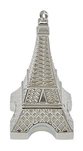 FEBNISCTE Silver Metal Eiffel Tower 16GB USB 2.0 Flash Thumb Stick