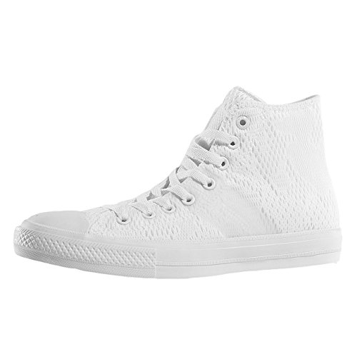 Converse Herren Ctas Ii Engineered Mesh Hi Sneakers Weiß (White/white/gum)
