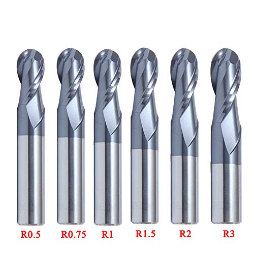 6 stücke Wolfram Stahl 2 Flöte Kugelkopffräser Fräser Cutter Werkzeug