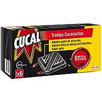 Cucal Trampa doble cebo contra Cucarachas y sus huevos - 6 trampas