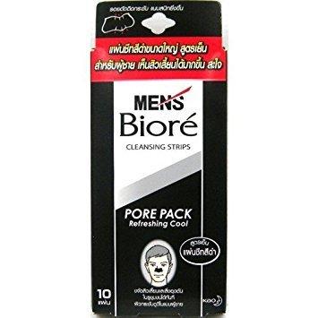 10 x Original Biore Nasenpflaster Men Black - Porenreinigung für Männer - Made in Japan - Nasenpflaster gegen Mitesser - Nose Stripes -