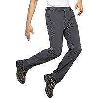 Lovelysunshiny Pantalones Calientes elásticos Gruesos Resistentes al Viento estiran los Pantalones de la Cintura para al Aire Libre