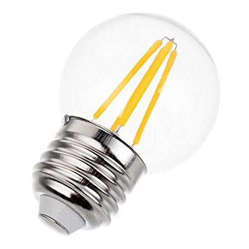LED Filament Glühbirne A50 Golf Ball Form E27 (Edison Schraube) 3,2 W, entspricht 30 W 3000 K warmweiß 320 Lumen, 260 Grad Abstrahlwinkel, 50000 Stunden (Moderner-stil-ball)
