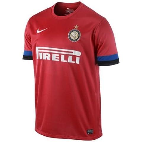 NIKE, Maglietta Bambino Inter Milan Away Replay Jersey, Rosso (red/blue/black), M