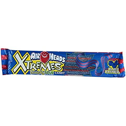 Airhead Xtremes Sour Candy, Bluest Raspberry, 2 oz