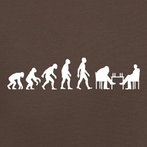 Evolution of Man - Schach - Herren T-Shirt - 10 Farben Schokoladenbraun