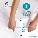 DHestia - Protector Colchón Impermeable y Transpirable Hipoalergénico, Anti-acaros y Anti-bacterias (Algodón Liso/Smooth Cotton, 105 x 190/200 cm)