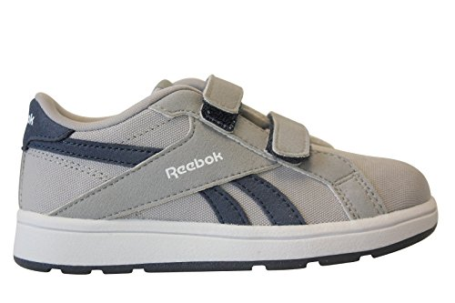 Reebok Unisex Baby Royal Comp L2V Cvs Sneakers, Gris / Azul / Blanco (Tin Grey/Navy/White), 25 EU