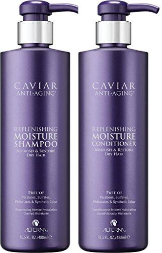 Alterna Caviar Anti-Aging Replenishing Moisture DUO: Shampoo and Conditioner (16.5 oz Each) by Alterna