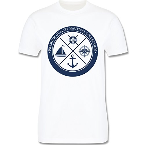 Shirtracer Schiffe - Premium Quality Nautical Collection Sailing - Herren T-Shirt Rundhals Weiß