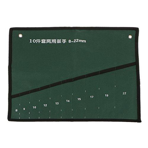 Preisvergleich Produktbild 10-Tasche Leinwand Schraubenschlüssel Werkzeug Aufrollen Speicherbeutel Organisatorfall