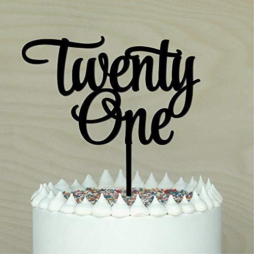 Queen54ferna Twentyone Tortenaufsatz 21. Geburtstag Kuchen Dekoration 21St Acryl (21st Dekorationen Kuchen Geburtstag)