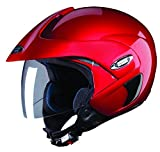 (CERTIFIED REFURBISHED) Studds Marshall SUS_MOFH_CREDL Open Face Helmet (Cherry Red, L)