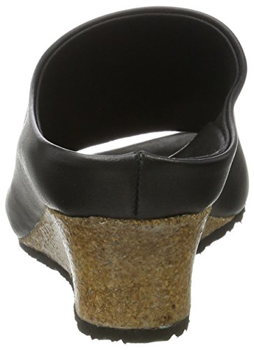 Papillio Damen Debby Textil Pantoletten Schwarz (Black)