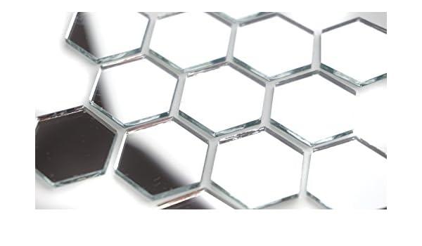 2,5 cm 100 St/ück Spiegel-Mosaikfliesen