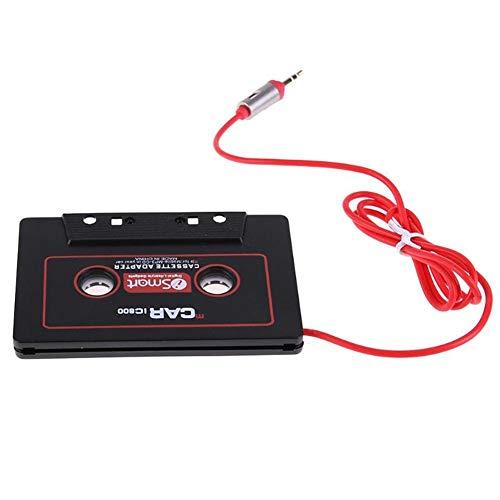 Universal Car Audio Reisekassettenadapter 3,5 mm AUX Audio Musikkassette Tape Player-Adapter Car Audio Stereo-Kassette Aux-Adapter kompatibel für iPhone, iPod, iPad, Android-Handys