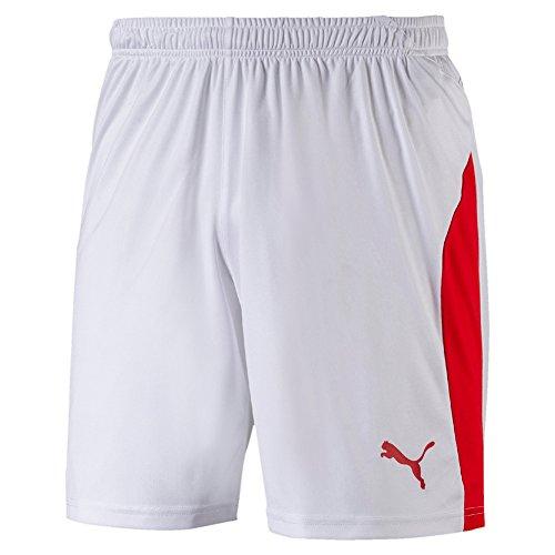 Puma Herren Liga Shorts Hose, White Red, XL -