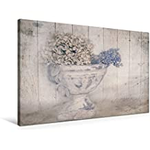 Premium Textil-Leinwand 90 cm x 60 cm quer, Hortensie   Wandbild, Bild auf Keilrahmen, Fertigbild auf echter Leinwand, Leinwanddruck (CALVENDO Lifestyle)