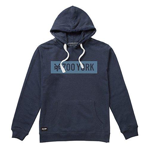 Zoo York Herren Box Kapuzenpullover, Denim Heather Dark Blue, Small -