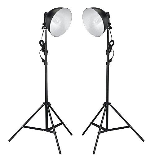 vidaXL 2x Fotolampen mit Reflektoren, Stativen & Leuchmitteln