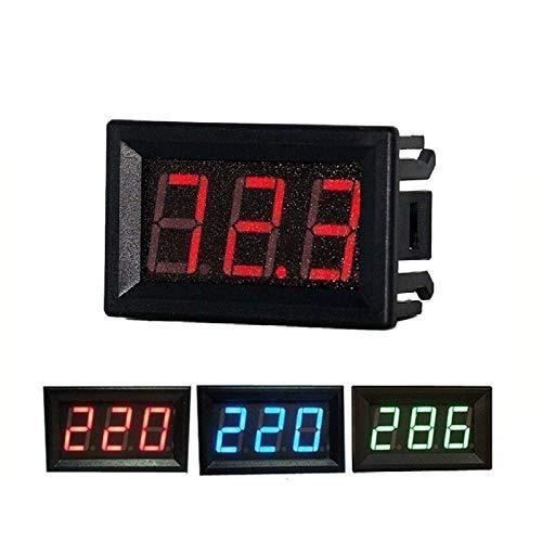 eHUB 0.56 Inch AC60-500V Two-Wire Digital Display AC Voltmeter (Red)