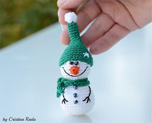 Winter Ornament, Amigurumi Weihnachtsgeschenk, perfekte Urlaub Dekoration (Schneemann Ornament)