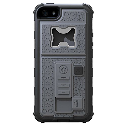 NEW HYBRID MOBILE CASE WITH CIGARETTE LIGHTER & BOTTLE OPENER FOR APPLE IPHONE 6/6S BLACK GREY