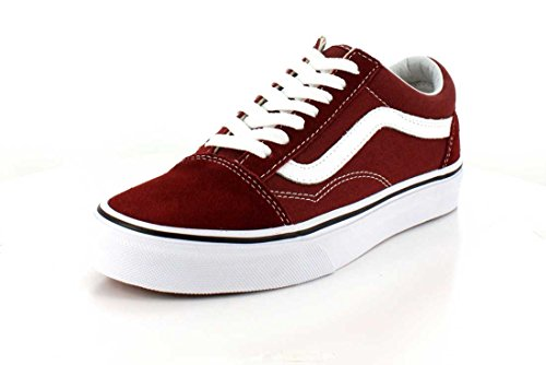 Vans Unisex Erwachsene Old Skool Sneaker Low-Tops Rot (Madder Brown/true White)