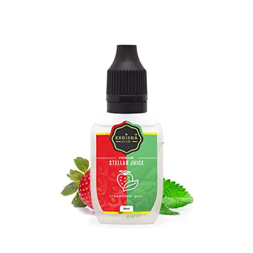 KNUQO STELLAR Juice 25ml - Erdbeere Minze-Geschmack | e-Zigarette | e Shisha eLiquid Flasche | Wiederaufladbare Elektronische Zigarette Liquid | Nikotinfrei | e Shisha | eShisha Club