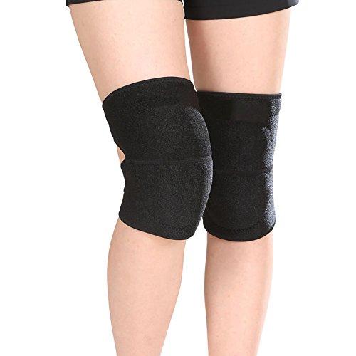 1Paar Erwachsene Kompression Knieschoner Kneepad Sport schutzausrüstungen Schwamm gepolsterte schlafgest Knie Pad Brace Sleeve Warmer für Sport Reiten Skaten Fitness Übung-besseren, free-injury